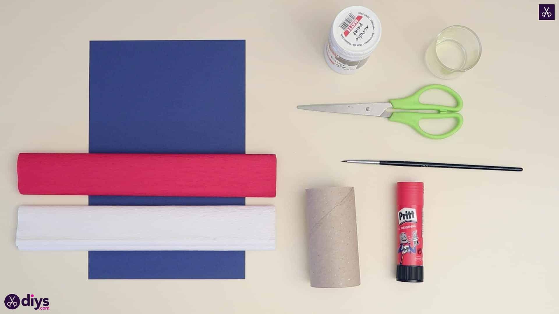 Toilet paper roll patriotic blower materials