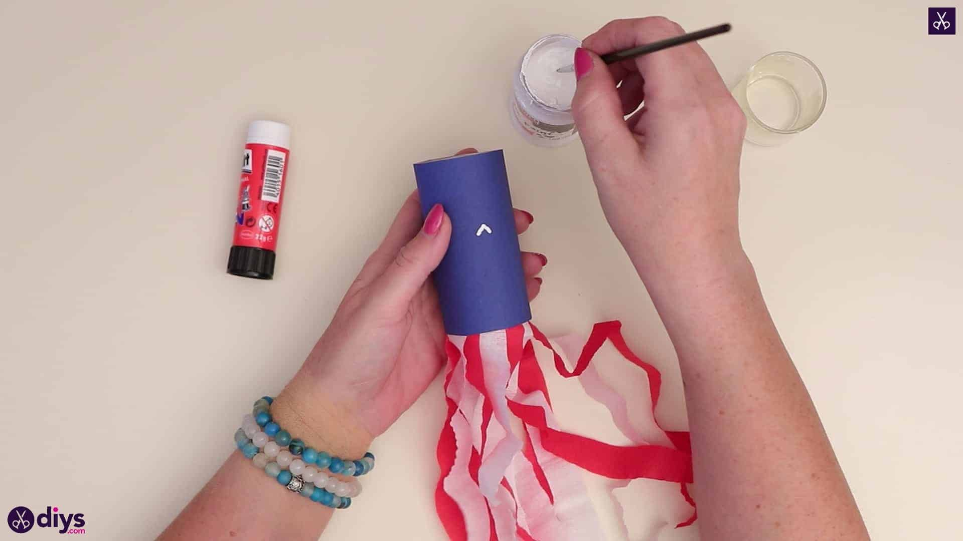 Toilet paper roll patriotic blower paint brush