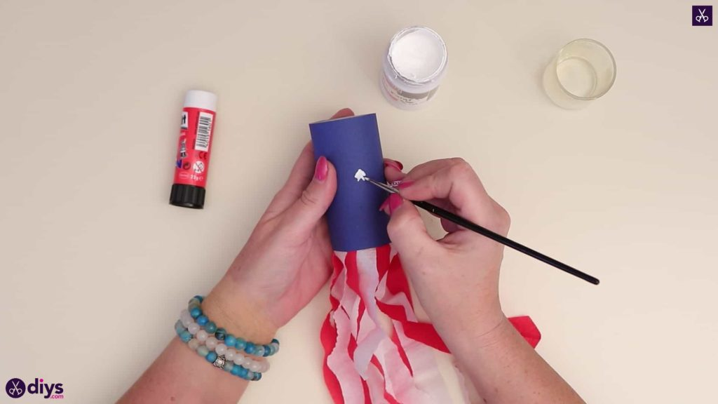 Toilet paper roll patriotic blower painting