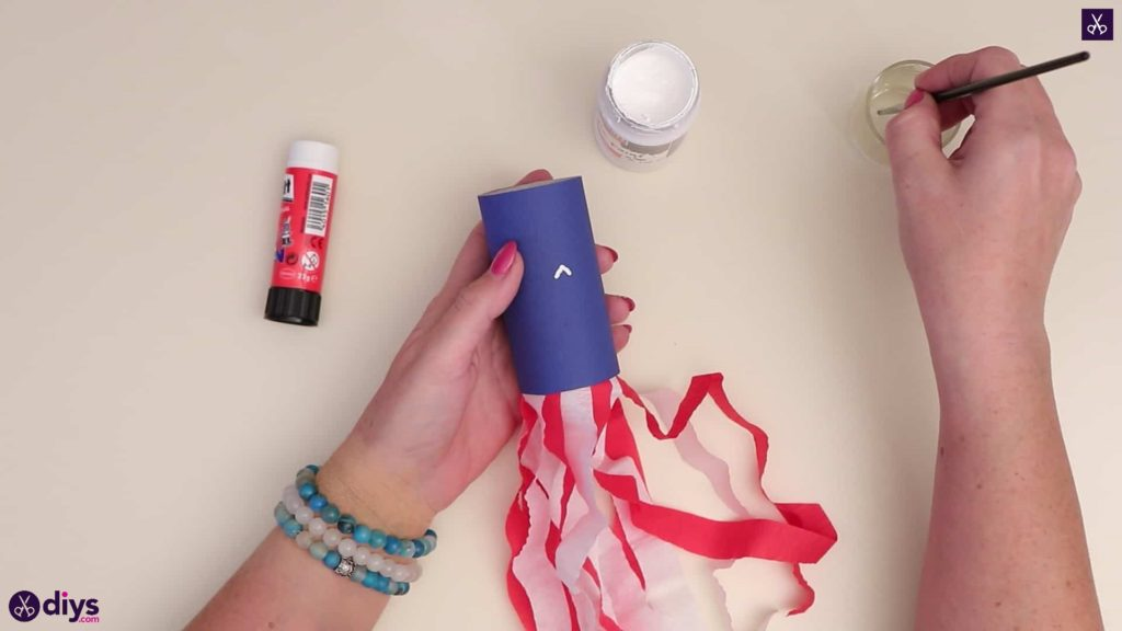 Toilet paper roll patriotic blower step 5