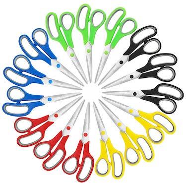 Verones 8 inch soft comfort grip handles & stainless steel scissors