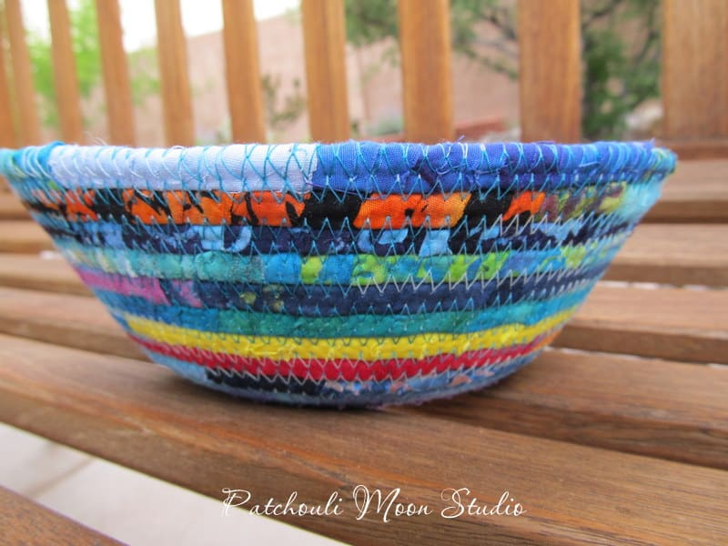 Wrapped fabric bowl