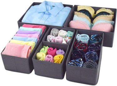 Homyfort foldable cloth storage box organizer
