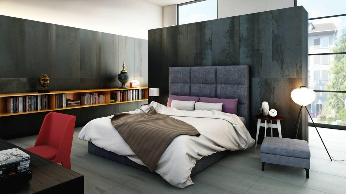 Mixed textured bedroom