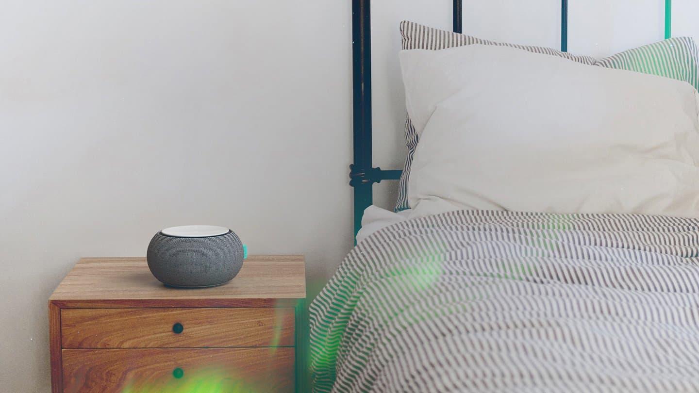 Sound machine in bedroom