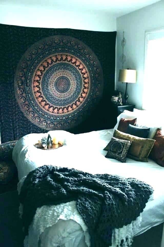 Tapestries in the bedroom