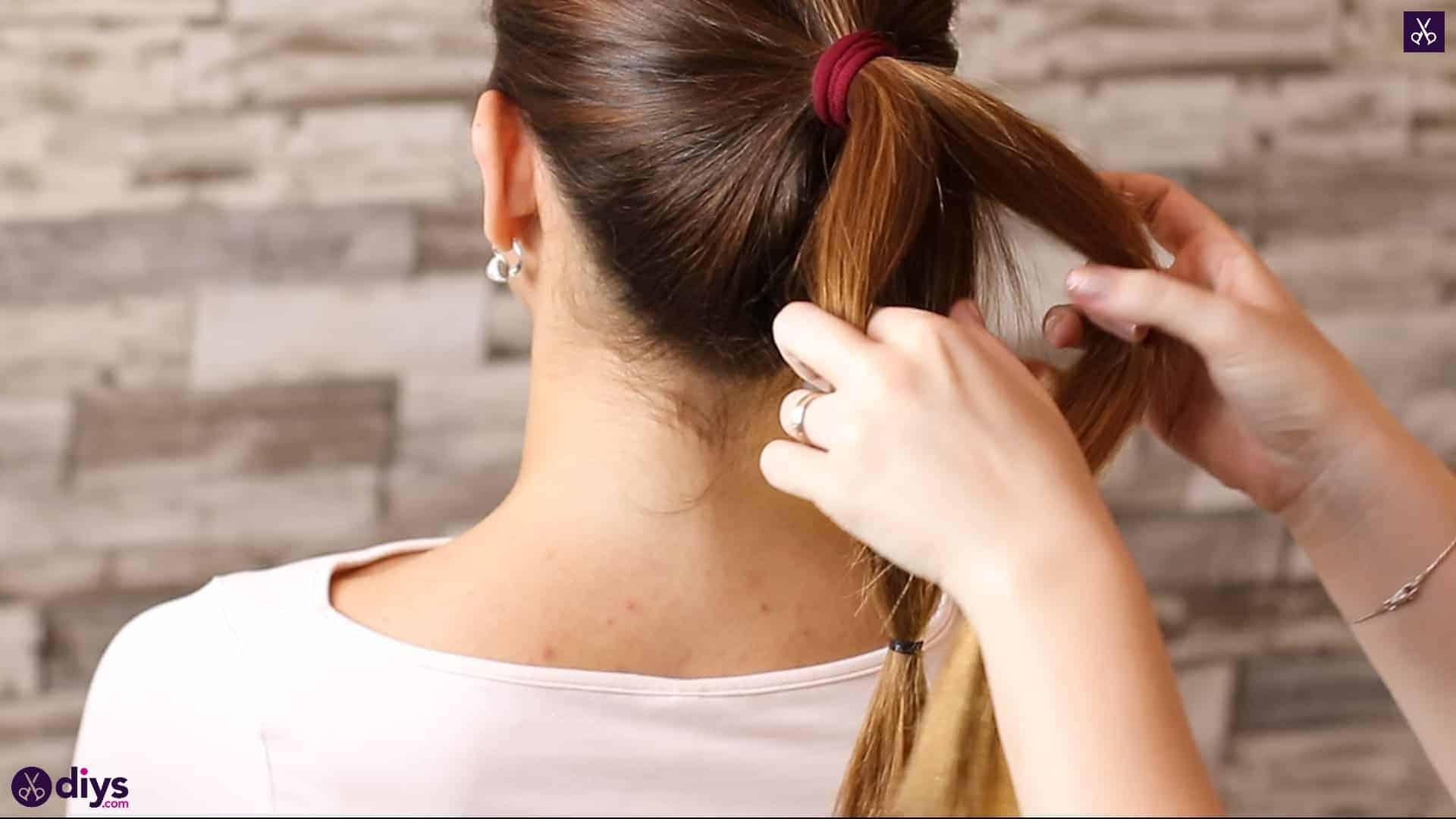 3 easy ponytails for everyday wear tutorial step step 3