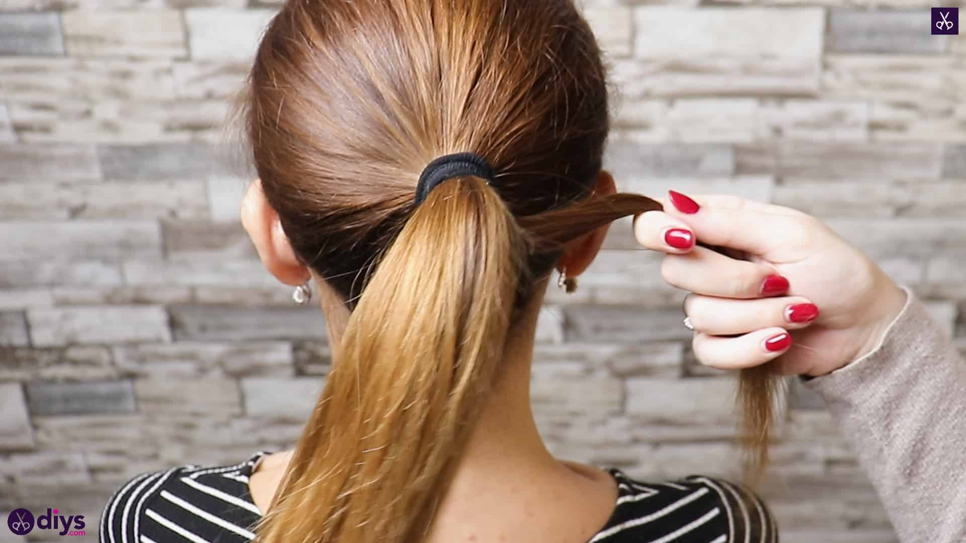 3 easy ponytails for everyday wear twisted ponytail step 2