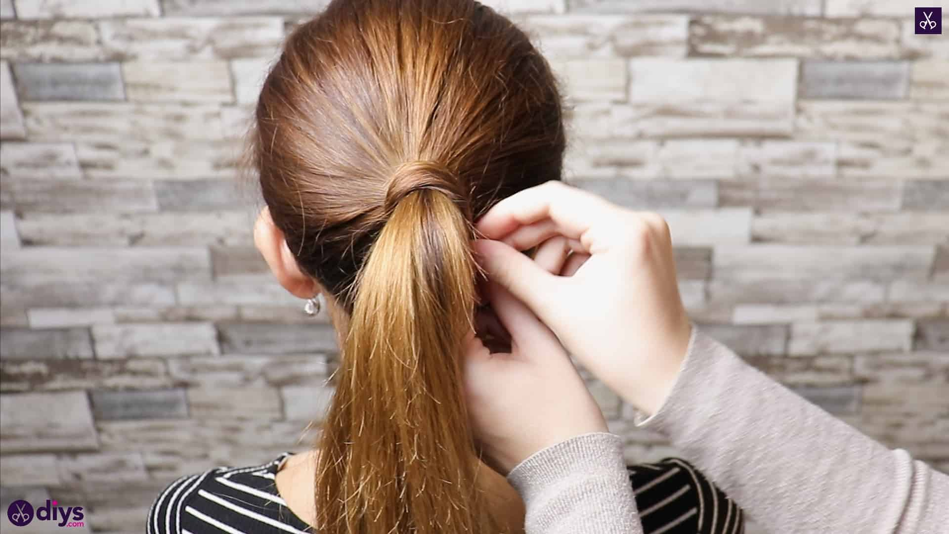 3 easy ponytails for everyday wear twisted ponytail step 2c