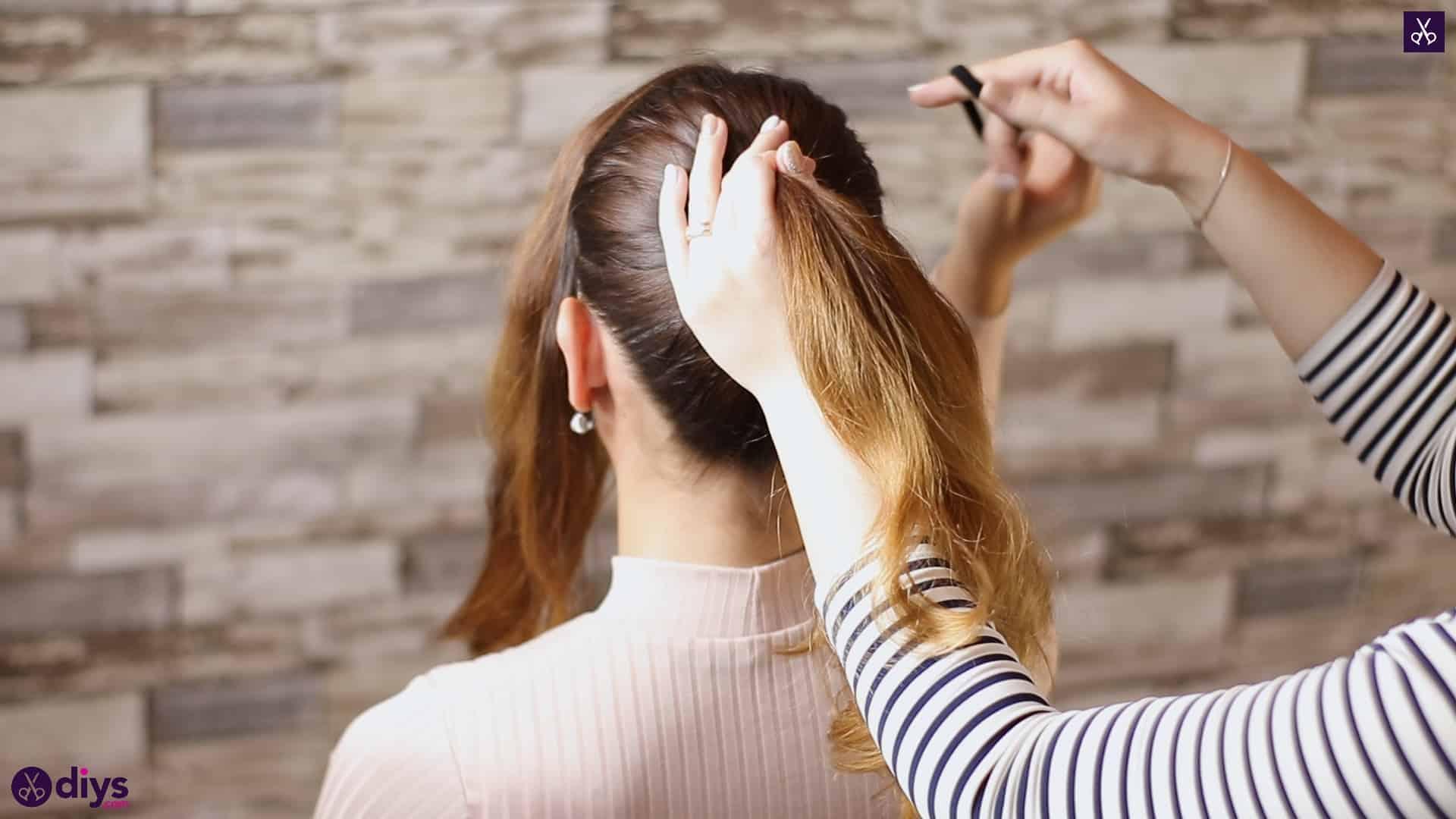 3 easy ponytails for everyday wear wraparound pony 2 a