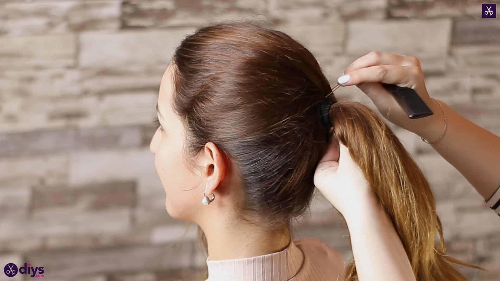 3 easy ponytails for everyday wear wraparound pony 3b