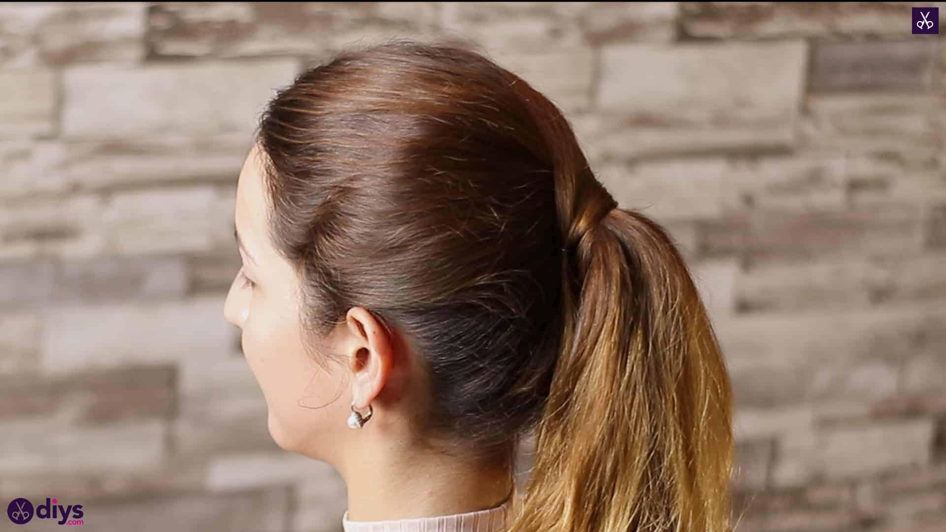 3 easy ponytails for everyday wear wraparound pony 5