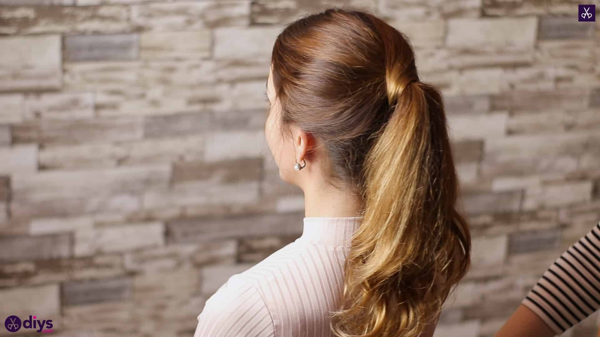 3 easy ponytails for everyday wear wraparound pony 5a