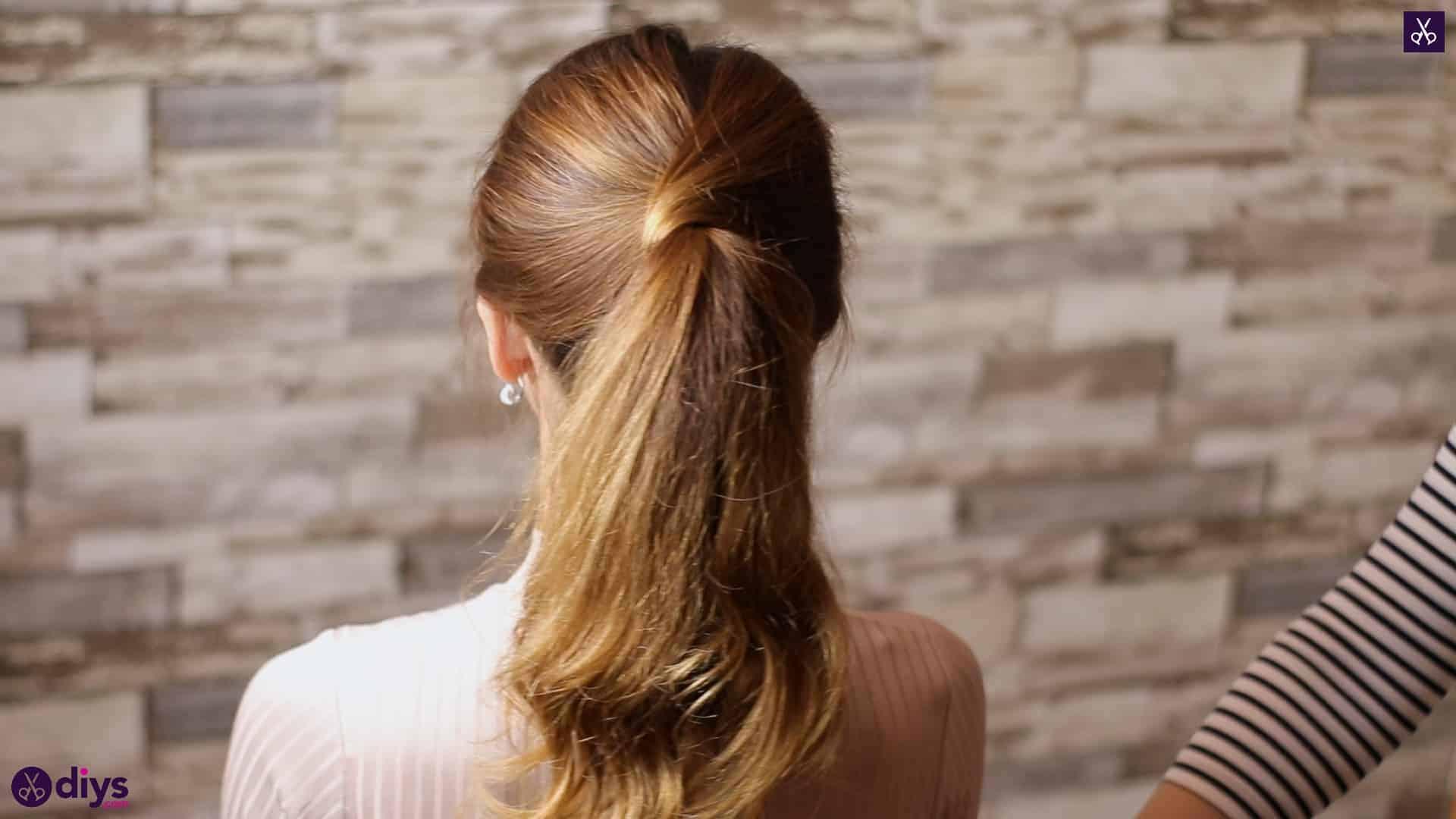 3 easy ponytails for everyday wear wraparound pony 5d