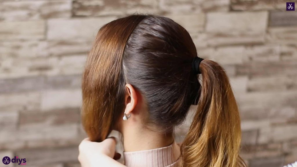 3 easy ponytails for everyday wear wraparound pony step 3