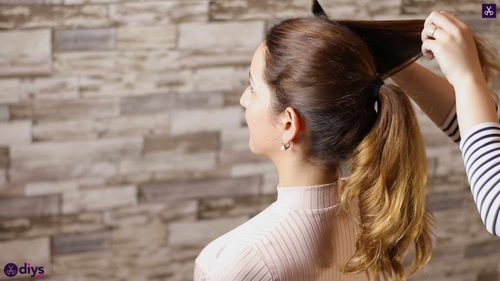 3 easy ponytails for everyday wear wraparound pony step 4a