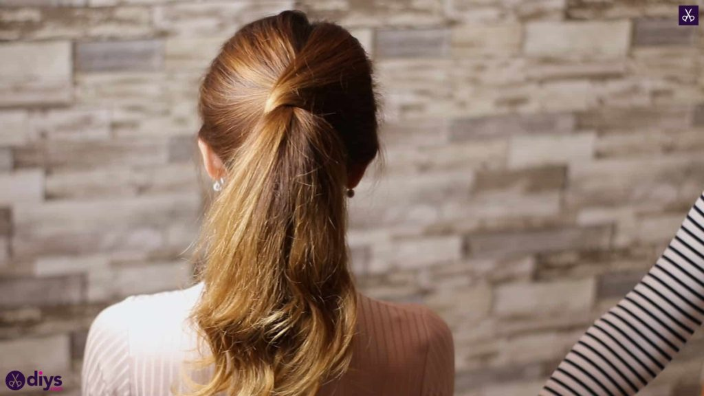 3 easy ponytails for everyday wear wraparound pony5 e