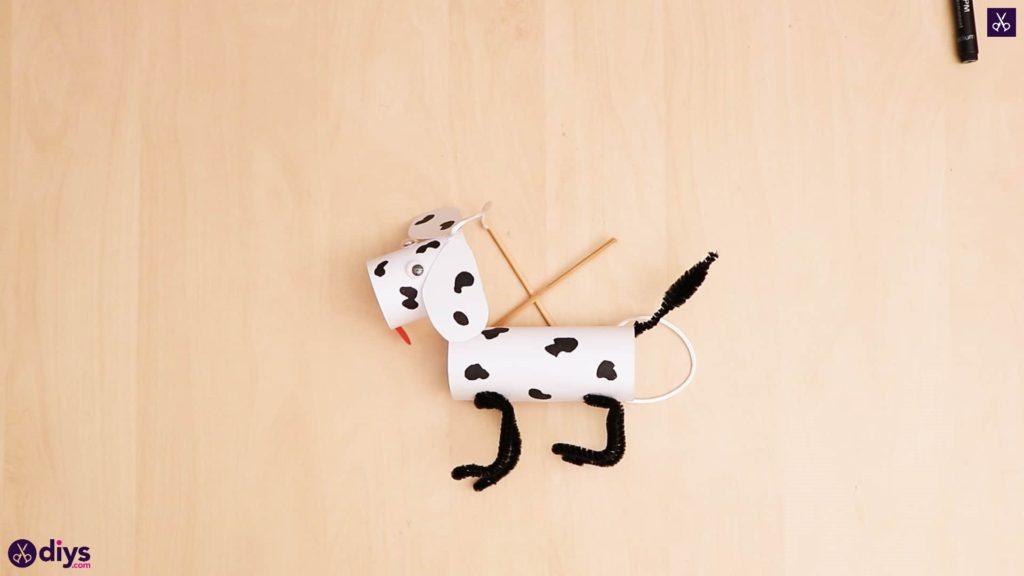 3d paper dog puppet