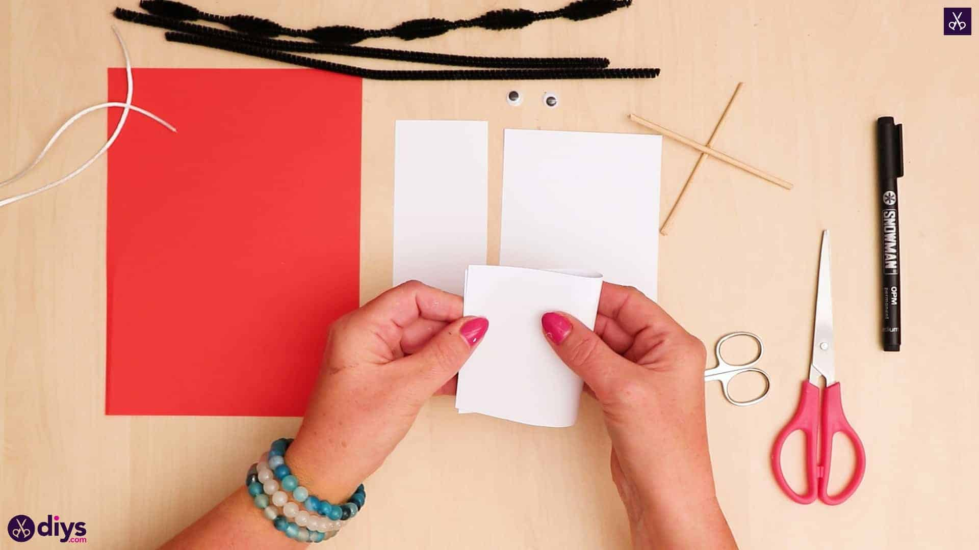 3d paper dog puppet fold paper