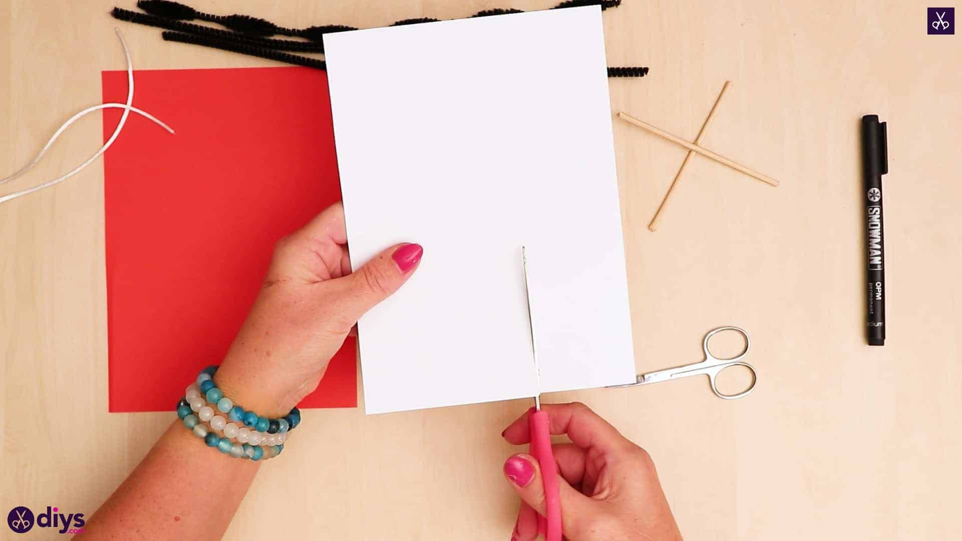 3d paper dog puppet prepare paper