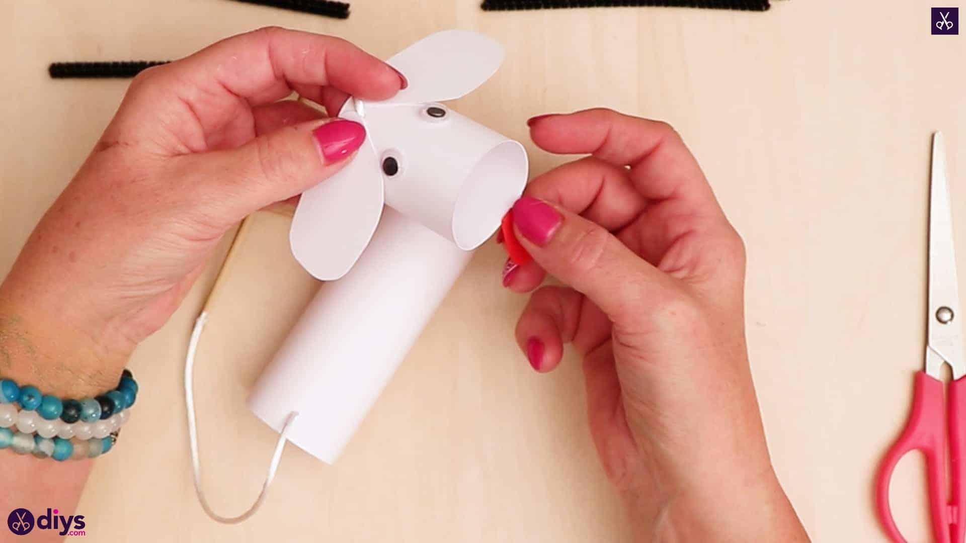 3d paper dog puppet step 10e