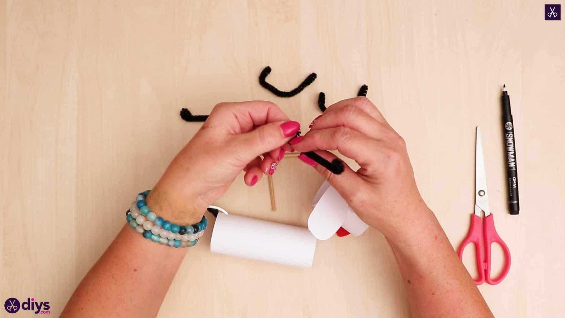 3d paper dog puppet step 11a