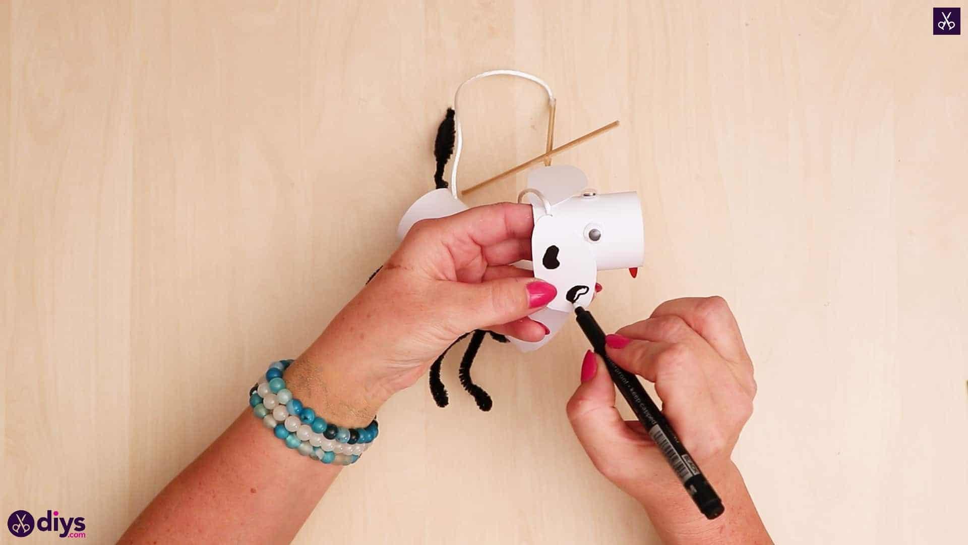 3d paper dog puppet step 11d