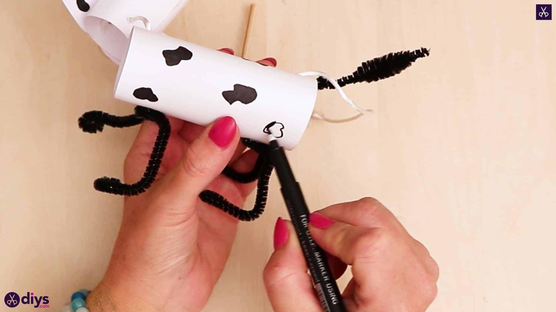 3d paper dog puppet step 11e