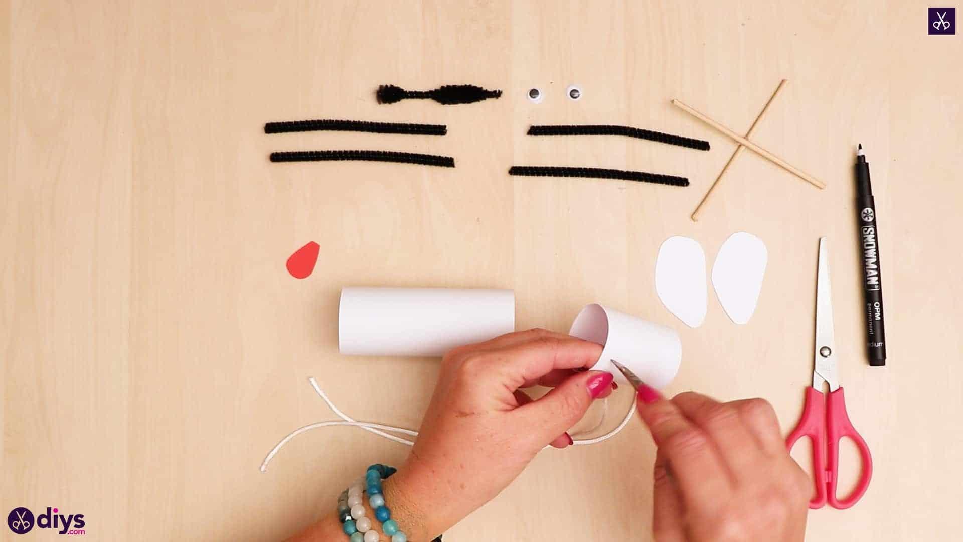 3d paper dog puppet step 8