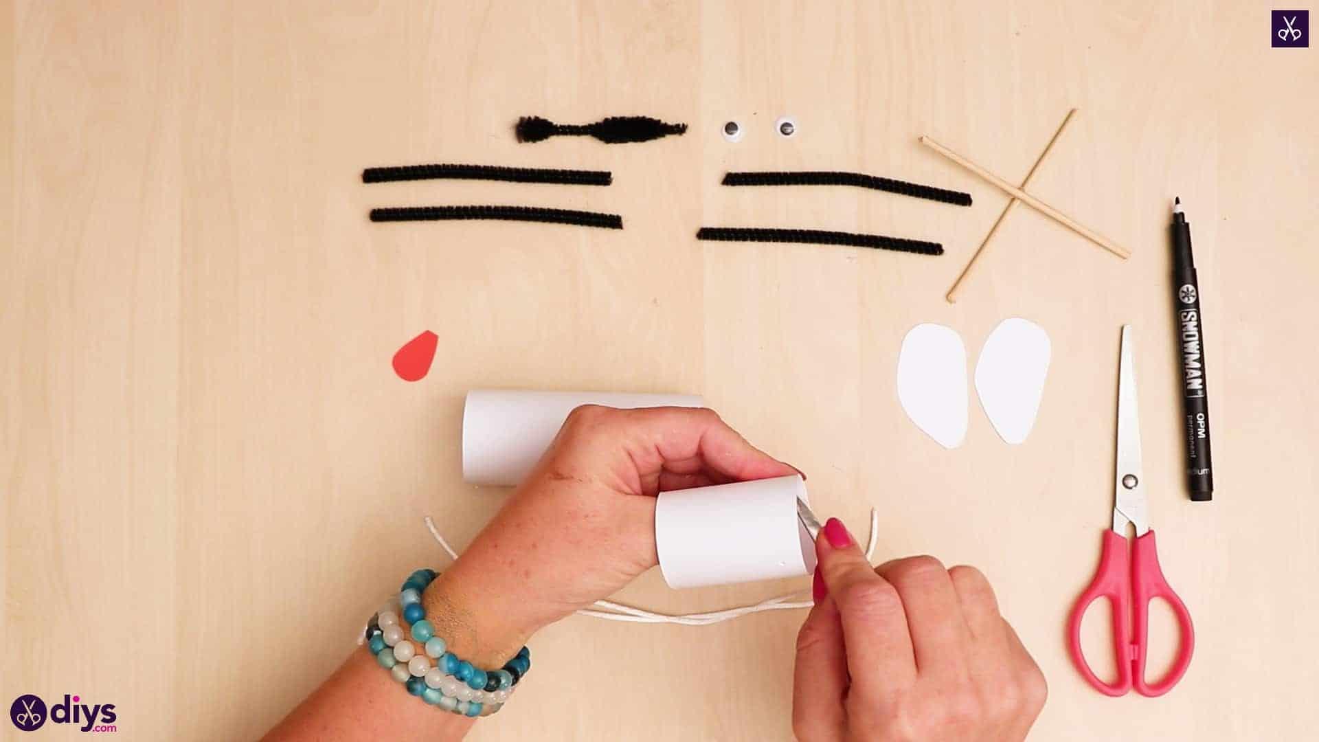 3d paper dog puppet step 8a