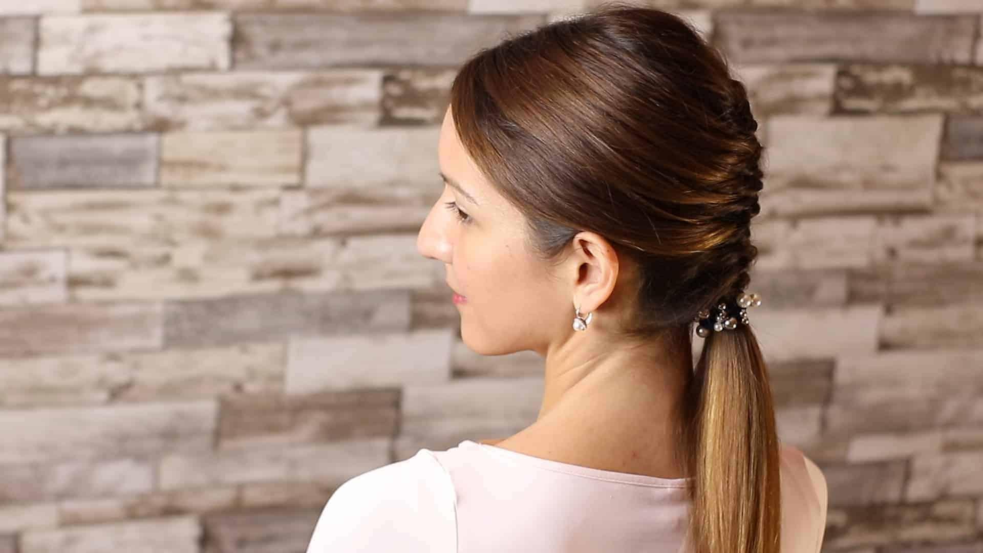 Beautiful and elegant hairstyle tutorial 57