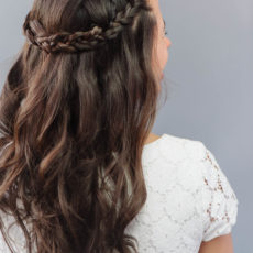 Braided halo wedding hair