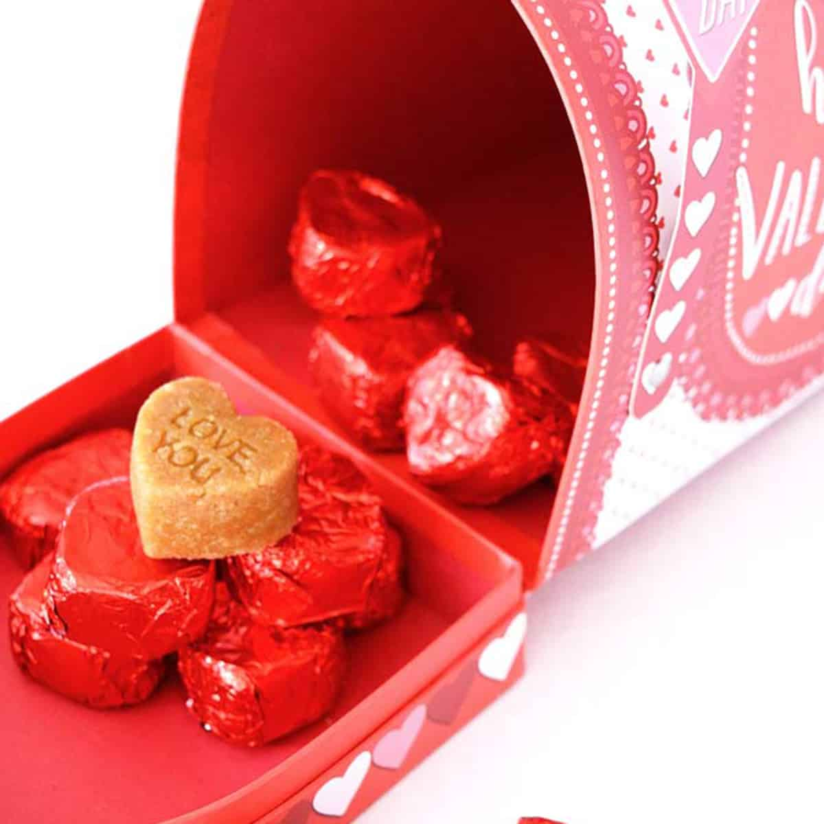 Clean eating marzipan valentine's candies