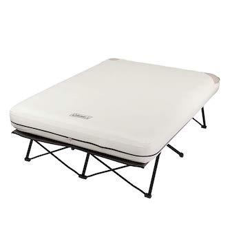 Coleman camping cot, air mattress, and pump combo
