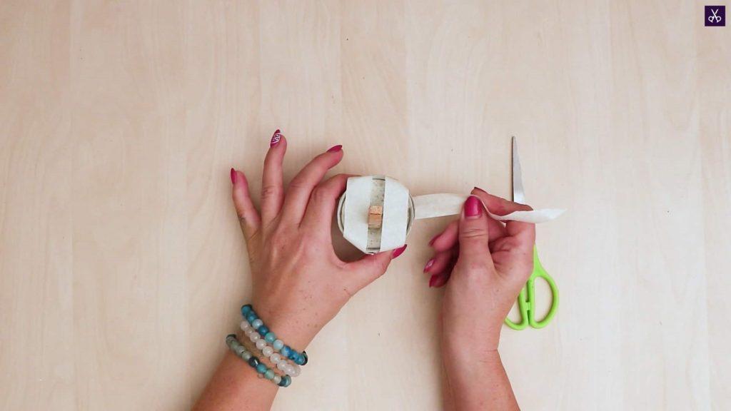 Concrete card holder add washi