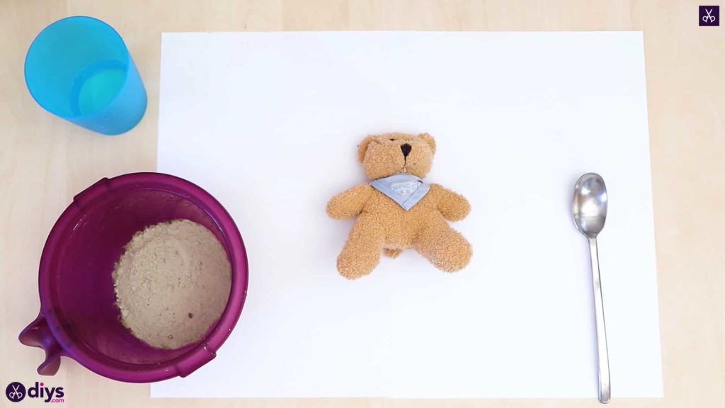 Concrete teddy bear materials