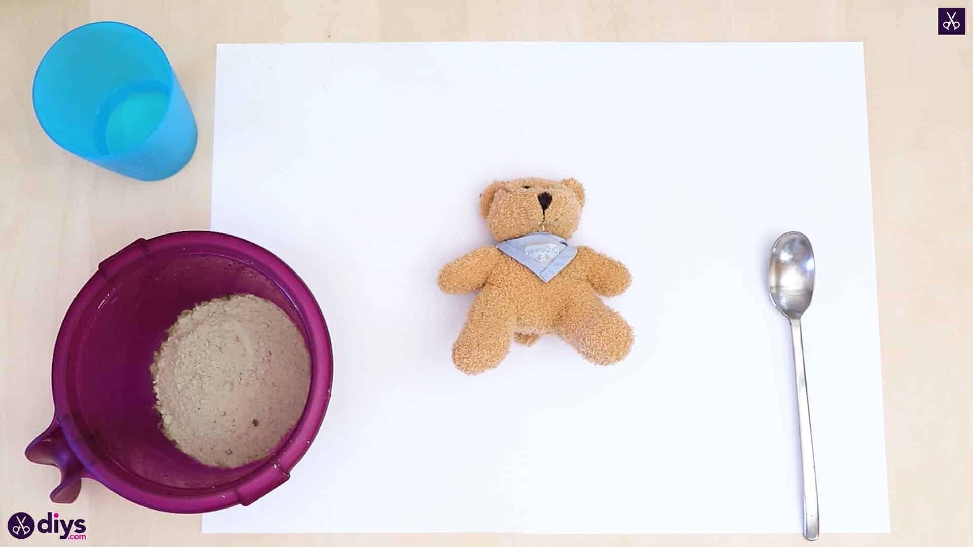Concrete teddy bear materials