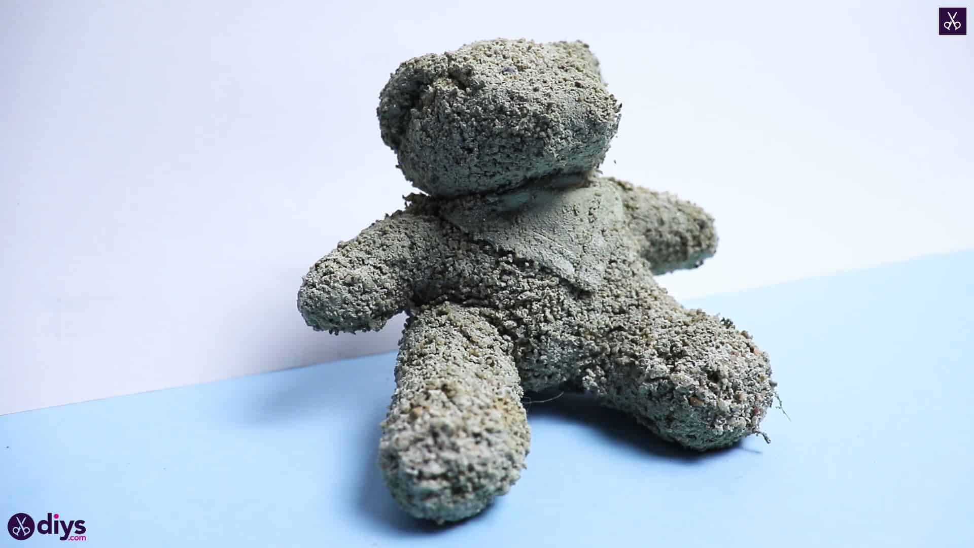 Concrete teddy bear