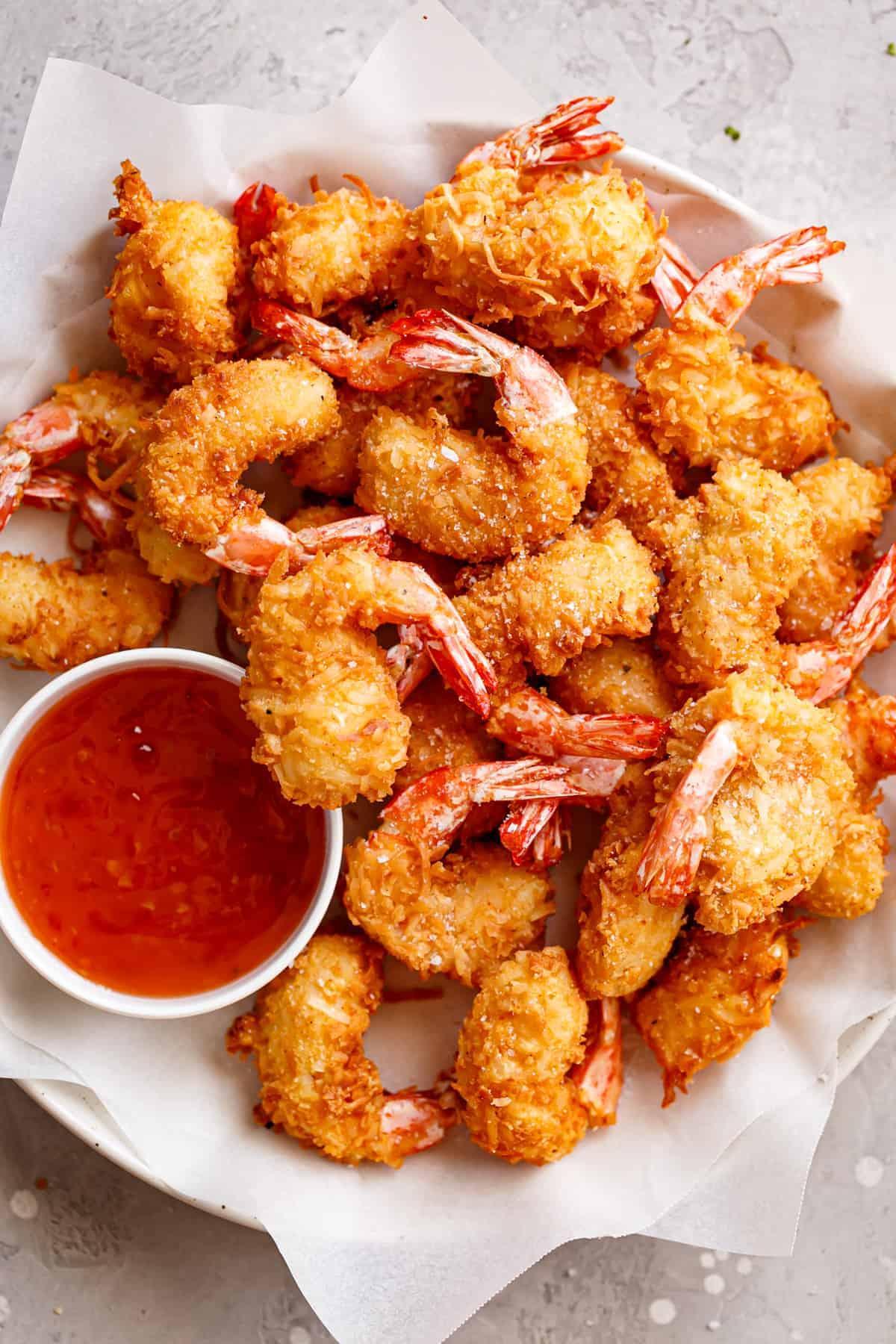 Crunchy coconut shrimp