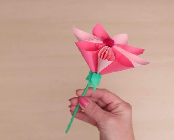 Paper Flower - How To Make A Standard Origami Rose | 460x570