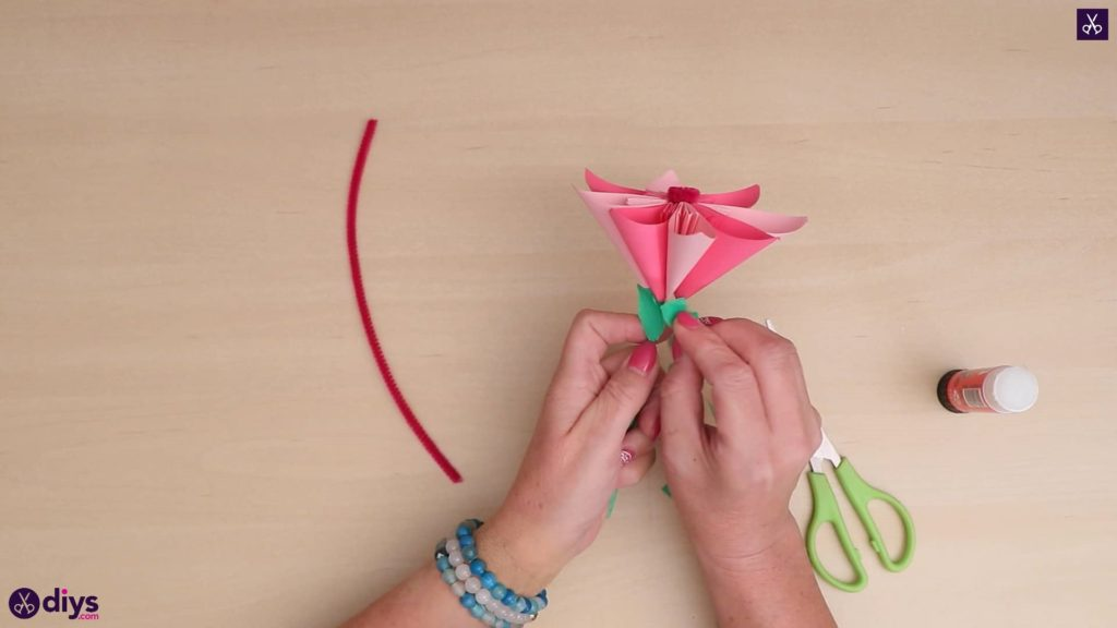 Diy 3d paper flower craft