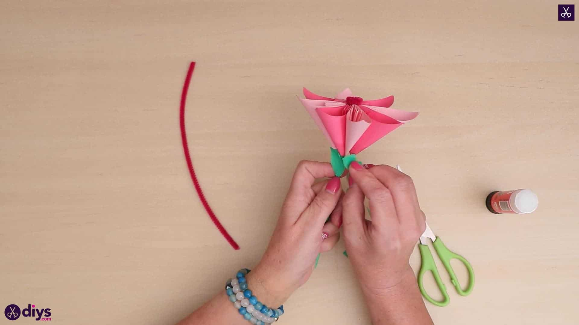 Diy 3d paper flower craft