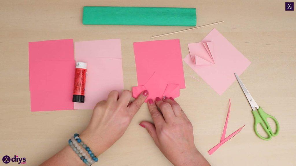 Diy 3d paper flower fold paper