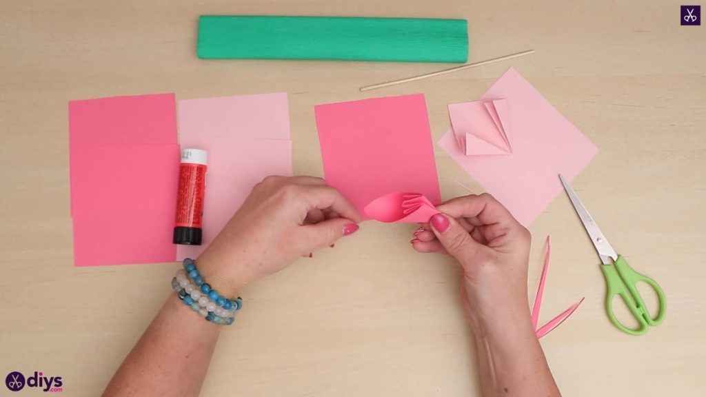 Diy 3d paper flower simple folding