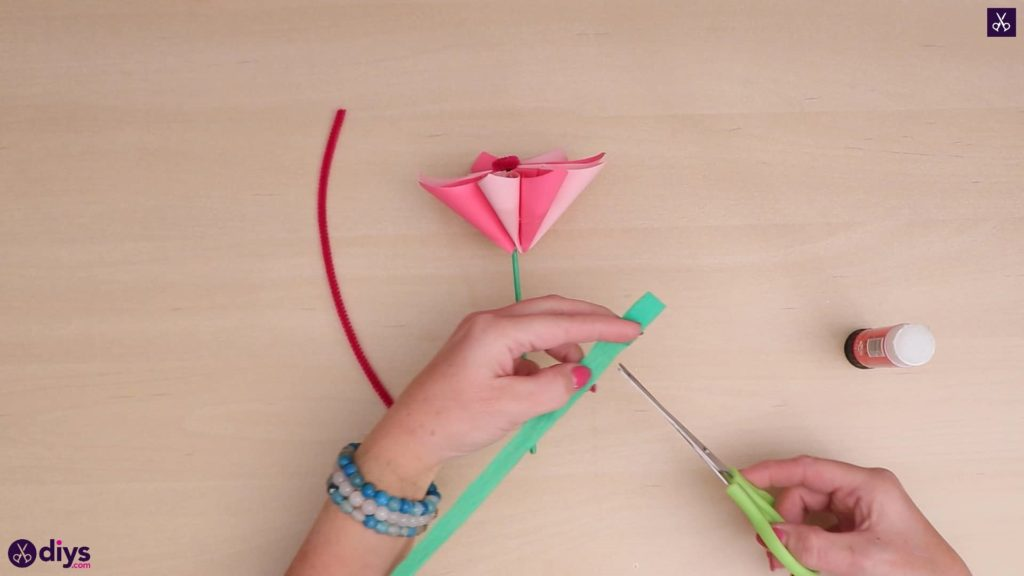 Diy 3d paper flower strip paper