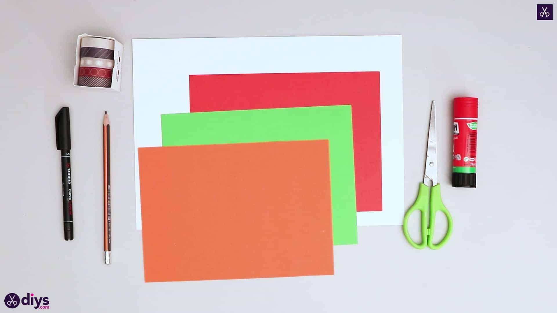 Diy birthday card materials