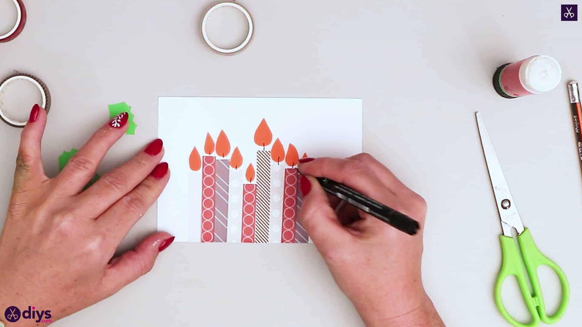 Diy birthday card step 7c