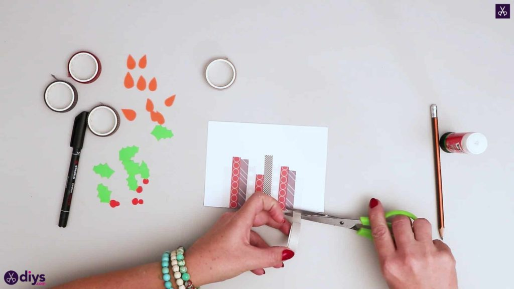 Diy birthday card step add washi
