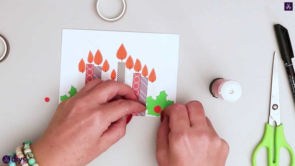 Diy birthday card step adhesive atach