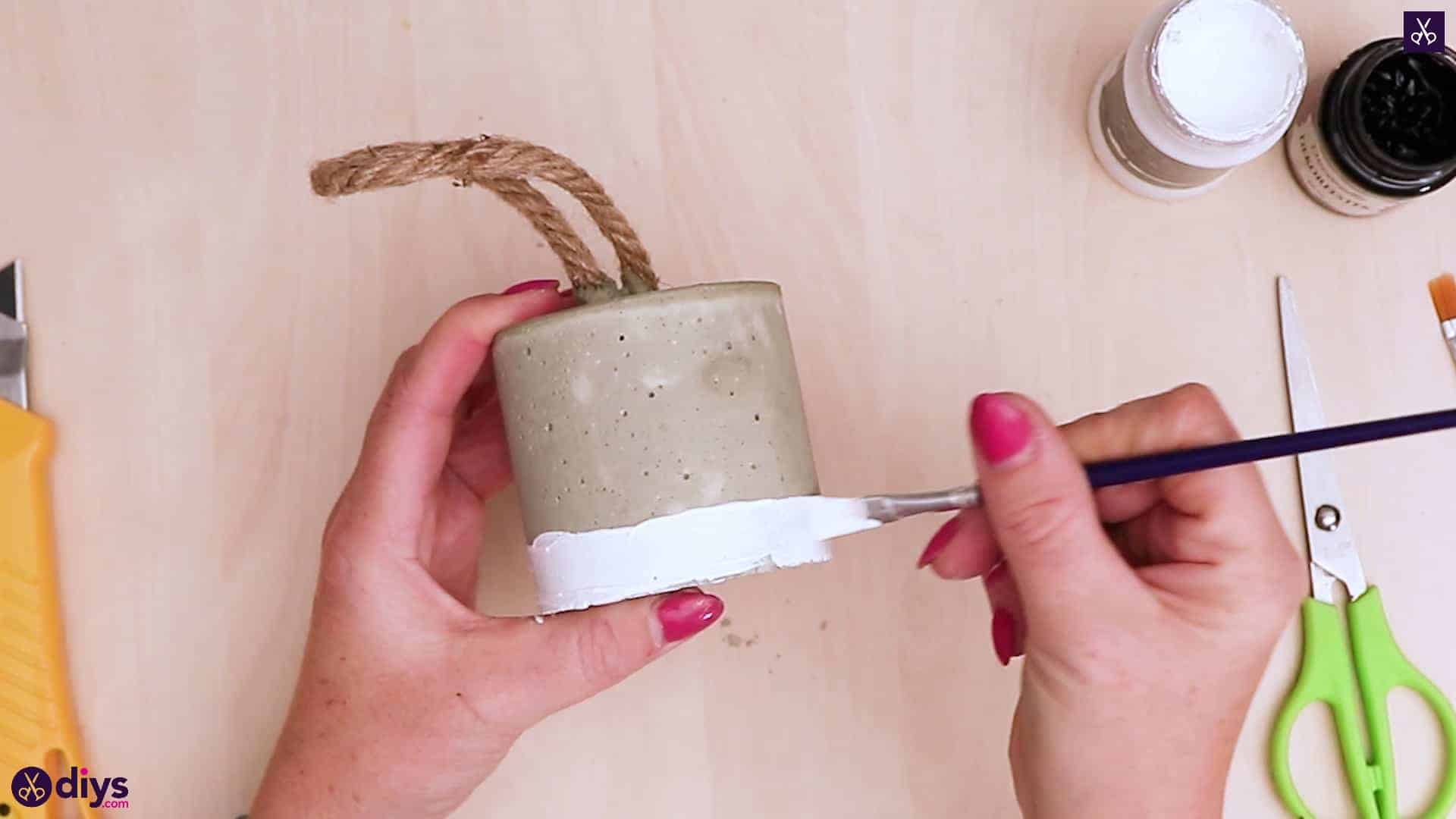 Diy concrete door stopper paint